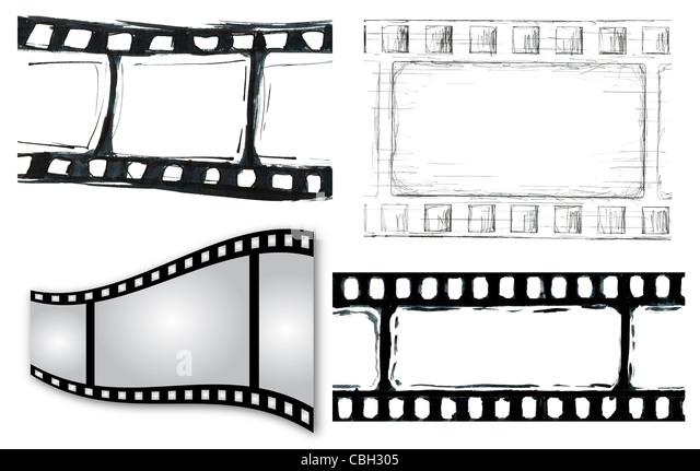 Grunge Film Strip Illustrationen für Ihr design Stockbild