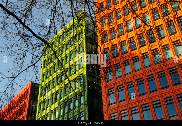 Abstrakte Gebäude Detail, Central St Giles, London, England, UK Stockbild