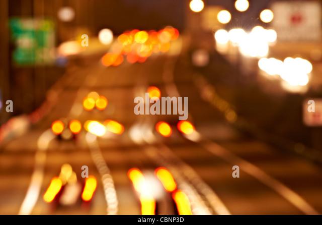 Autobahnverkehr - abstrakt Stockbild