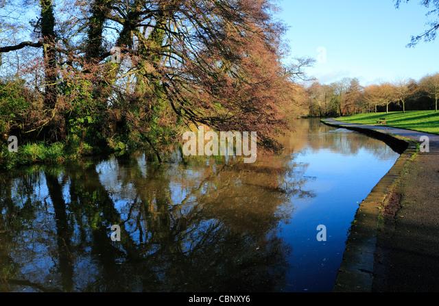 Fluss Itchen, Riverside Park, Southampton Stockbild