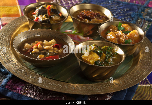 Thali Essen Indien Essen Stockbild