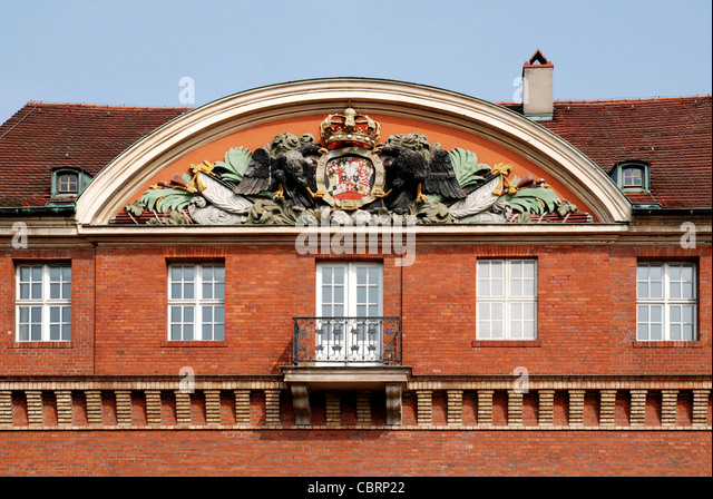 Portal der Zitadelle Spandau in Berlin. Stockbild