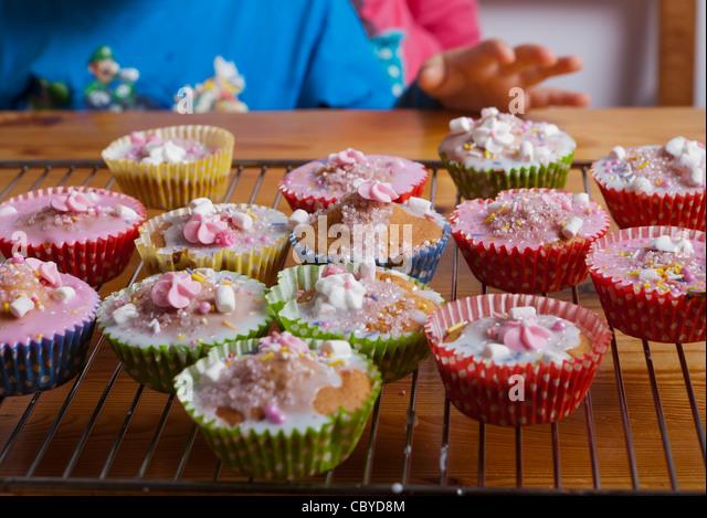 Nahaufnahme der cupcakes Stockbild