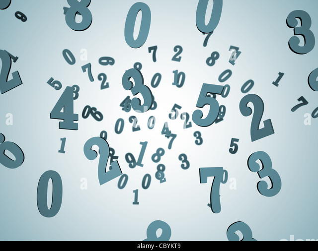 Zahlen Hintergrund 3D Stockbild