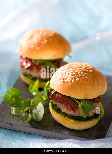 Italienischen Stil kleine Burger Stockbild
