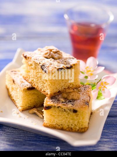Rosinen und Nüssen Kuchen Stockbild