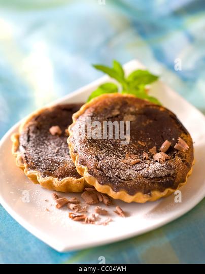 Kastanien und Schokolade Tarlets Stockbild