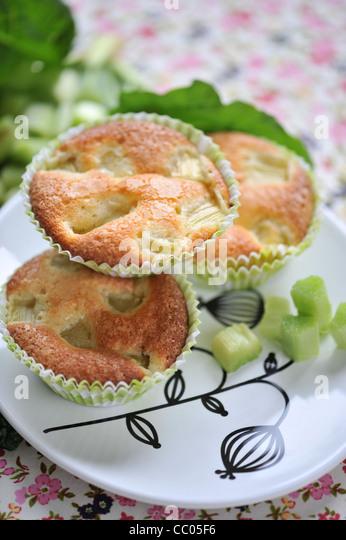 Rhabarber-Muffins Stockbild