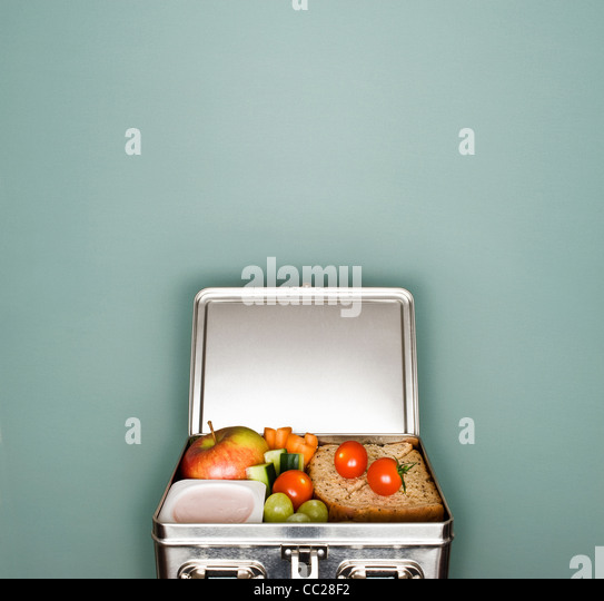 Ein Lunchpaket Stockbild