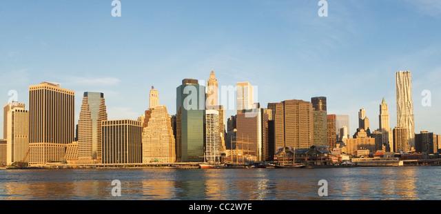 Skyline von New York State, New York City, USA Stockbild