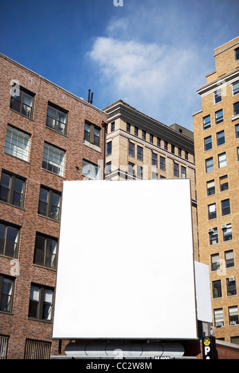 USA, New York State, New York City, leeren Plakatwand Stockbild