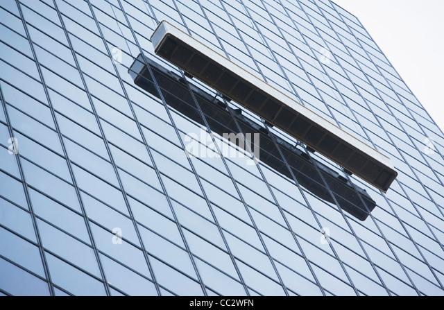 USA, New York City, Manhattan, Fenster außen Büro Putzstein Stockbild