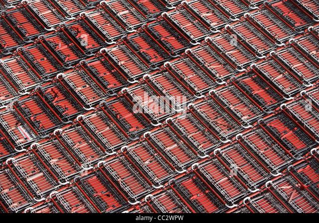 USA, New York City, Full-Frame-Schuss von Einkaufswagen Stockbild