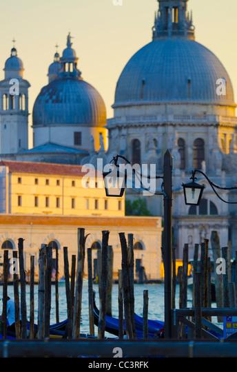Italien, Veneto, Venedig, Santa Maria della Salute Kirche in Basino di San Marco Stockbild