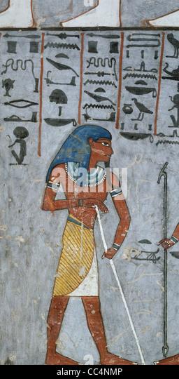 Ägypten - antike Theben (UNESCO-Weltkulturerbe, 1979) - Luxor - Tal der Königinnen - Grab von Ramses, Stockbild