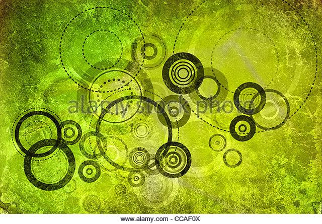 grüne Kreise Stockbild