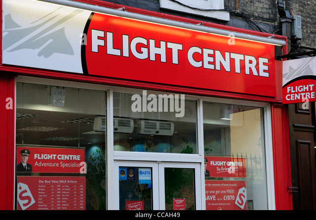 Flight Center Reisebüros, Cambridge, England, UK Stockbild