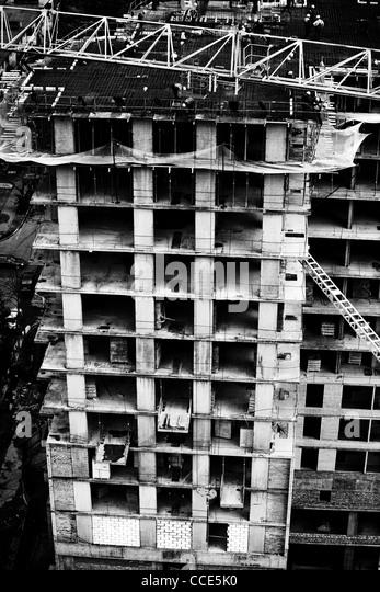 Gebäude. Schwarz / weiß Kontrastfarben. Stockbild