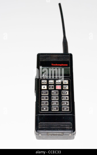 veraltete Technophone PC117 Handy Stockbild