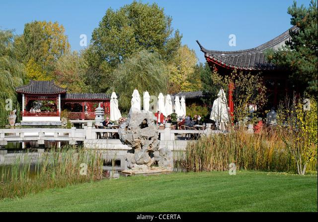 Chinesischer Garten in den Gärten der Welt in Berlin. Stockbild