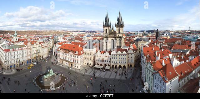 Prag, Altstädter Ring. Staromestske namesti Stockbild