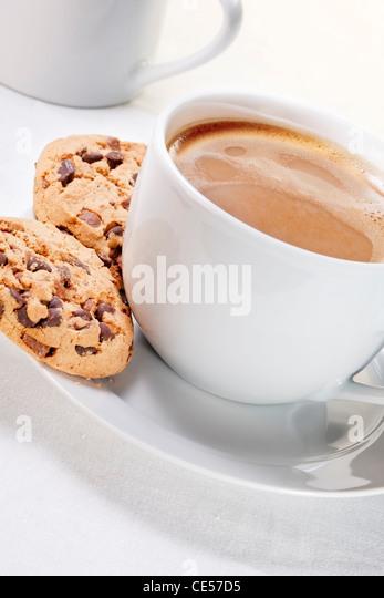 Kaffee und Gebäck Stockbild