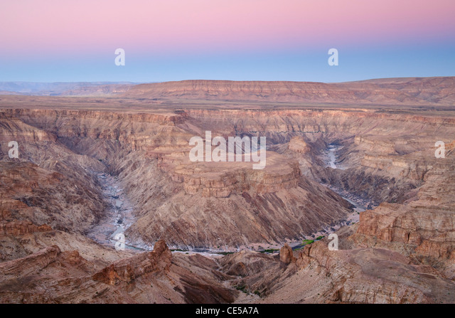 Fish River Canyon im Süden Namibias im Morgengrauen. Stockbild