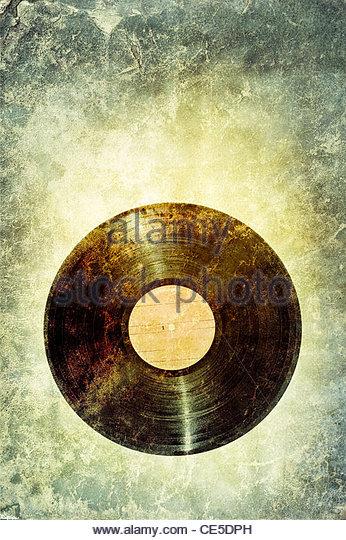 retro-Vinyl-Schallplatte Stockbild
