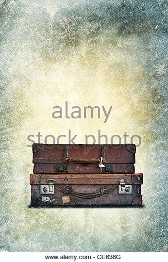 Vintage Gepäck Stockbild