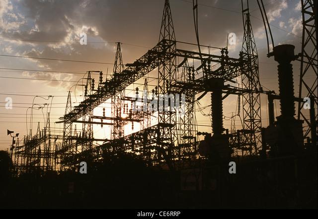 HMA 85818: Hindalco Kraftwerk; Renusagar; Uttar Pradesh; Indien Stockbild