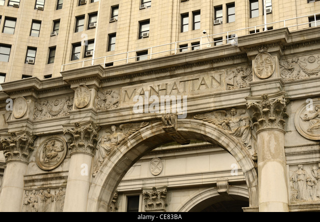 Detail des Rathauses in Manhattan, New York City. Stockbild