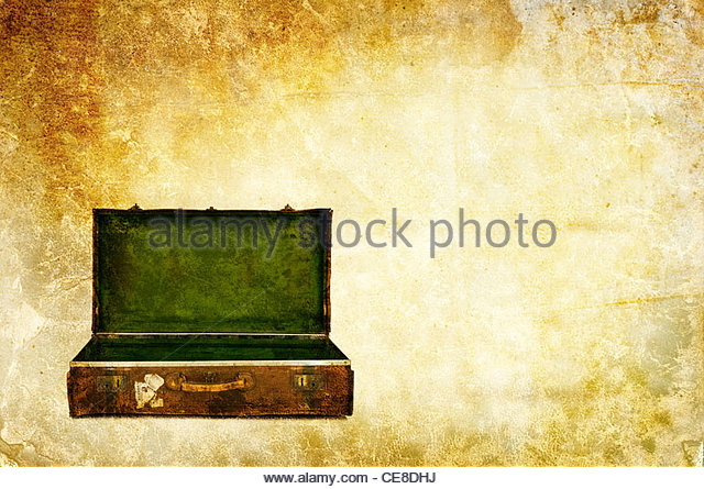 Koffer öffnen Stockbild