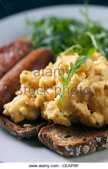 Alton Albany Bauernhof B & B zeitgenössischen irischen Frühstück von gerösteten Soda Brot, Stockbild