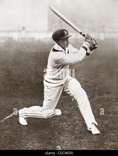 """Sir Donald George Bradman, bezeichnet 1908 ? 2001, oft als """"The Don"""". Australische Cricketspieler. Stockbild"""