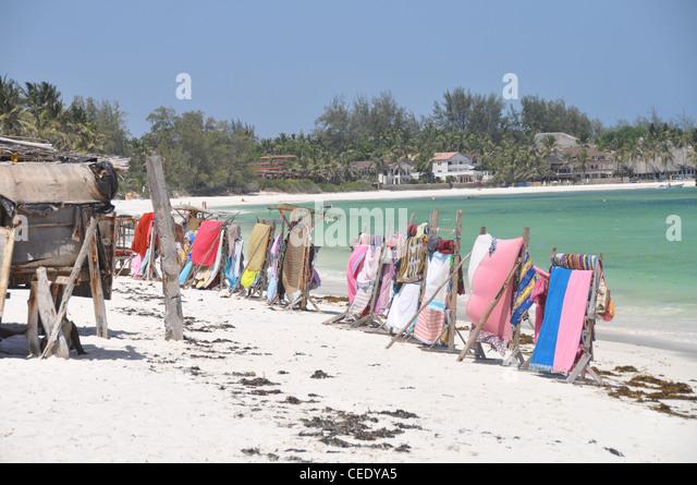 Strand-Markt, Turtle Bay, Watamu, Kenia, Afrika Stockbild