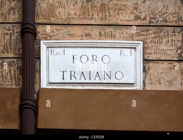 """Lesung zu unterzeichnen """"Foro Romano"""" Stockbild"""