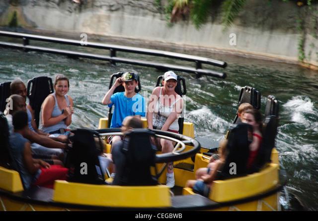 Busch Gärten Tampa Florida Congo River Rapids Stockbild