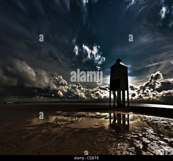 Burnham am Meer.  Abstrakte Farbe Landschaft Stockbild