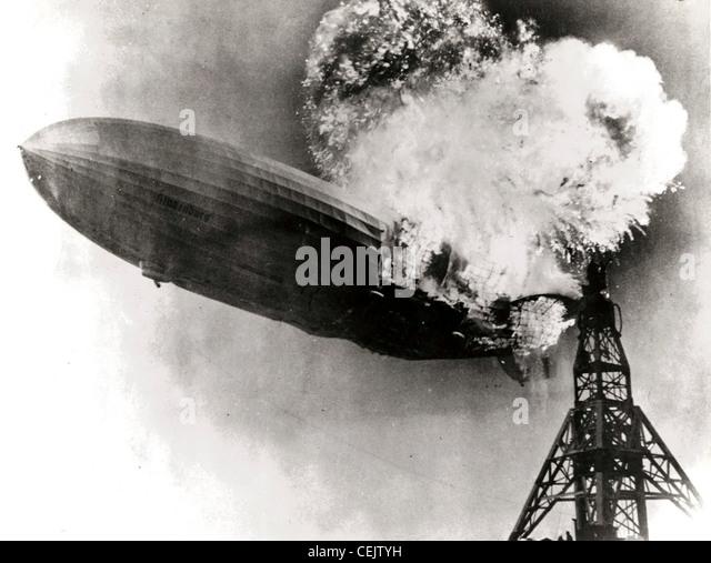 Hindenburg-Katastrophe Stockbild