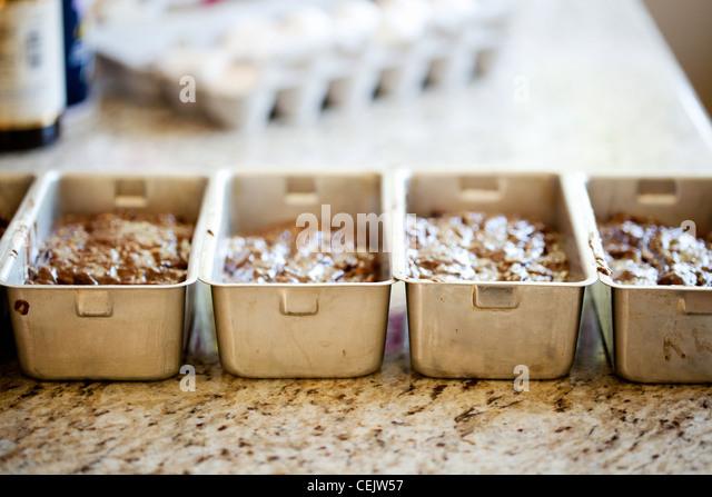Brot liebt warten gebacken werden Stockbild