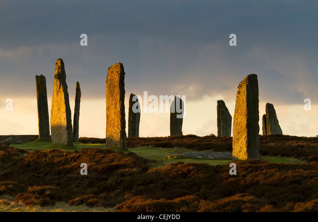 Ring of Brodgar Steinkreis, Orkney Stockbild