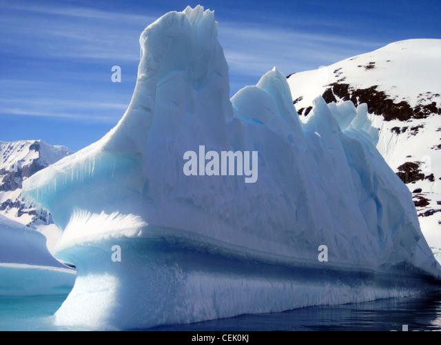 Eisberg in der Antarktis Stockbild