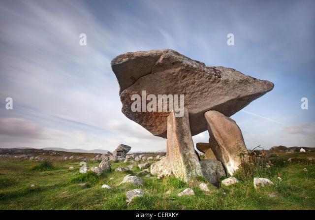 Kilclooney Dolmen - Co. Donegal, Irland. Stockbild