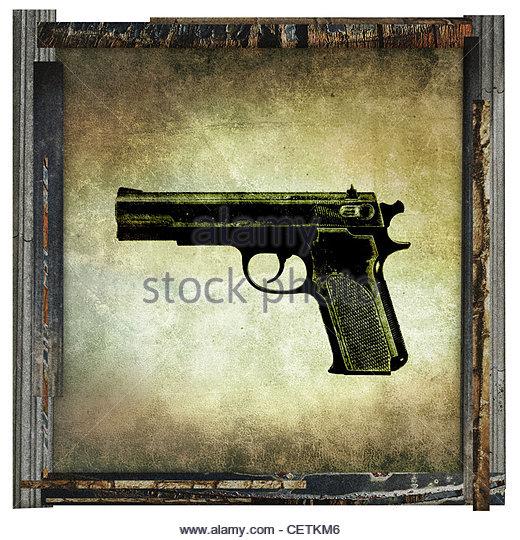 Pistole-Bild Stockbild