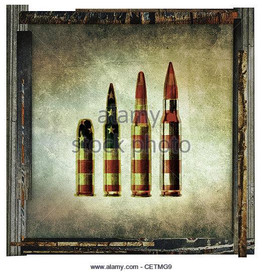 amerikanische Kugeln Kunstwerk Stockbild