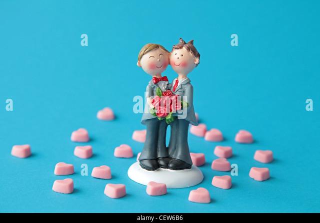 Ein homosexuelles Paar Stockbild