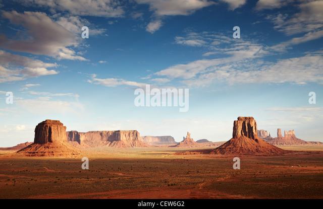 Früh morgens am Monument Valley, Arizona, USA Stockbild