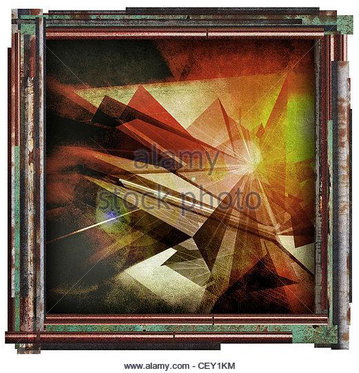 abstrakte Grafik Bild Stockbild