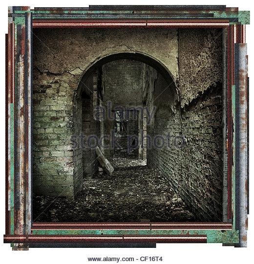 altes Gebäude-Bild Stockbild