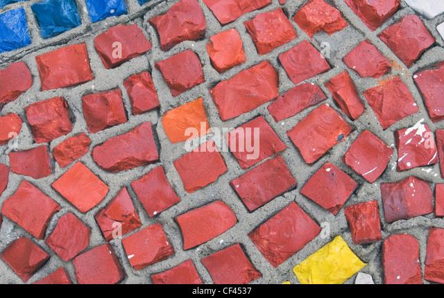 Mosaik hautnah Stockbild